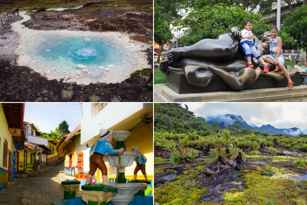 Kam bez turistov Kolumbia