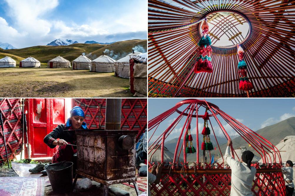 nomádske tradície v Kirgizsku